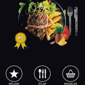 Etterem mobil app