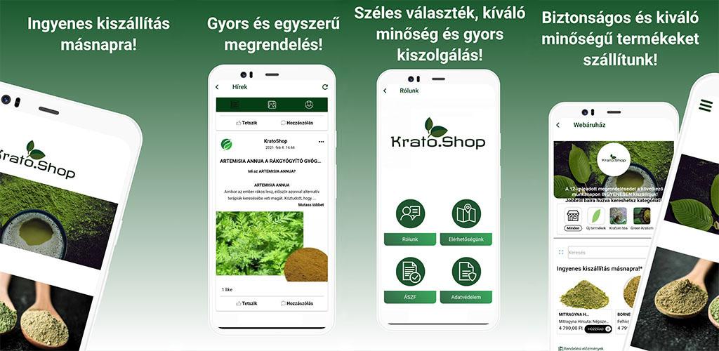 Legújabb alkalmazásunk a KratoShop
